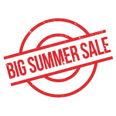 Big Summer Sale rubber stamp. Grunge design with dust scratches. Effects can be easily removed for a clean, crisp look. Color is easily changed.