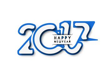 Happy new year 2017, Vector illustration