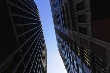 Barcelona ciudad  nuevos rascacielos en la zona de las pl. de las glorias y avenida Diagonal