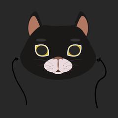 animal mask flat icon