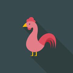 Cock flat icon