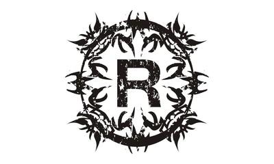 Rough Letter R