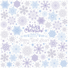 Invitation New Years Christmas Card