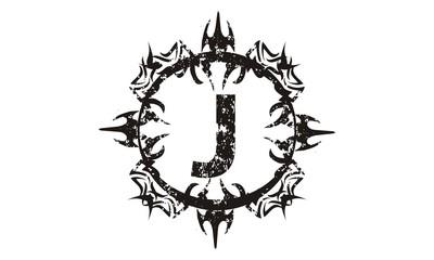 Rough Letter J