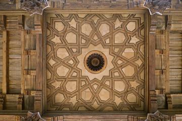 Wooden ceiling of a mosque in Uzbekistan