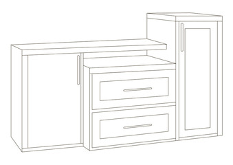 The cabinet chest of drawers