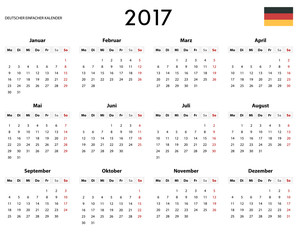 German simple calendar
