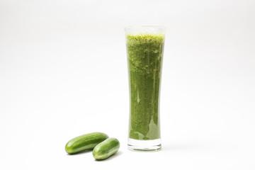Cucumber Juice on White Background