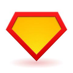 Superhero logo template