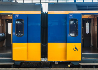 Dutch train carrieges connected