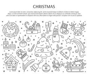 Christmas line elements