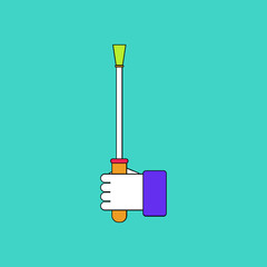 flat vector icon design collection sex stick in hand