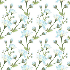 Flower arrangement, flowers in watercolor, seamless pattern. Wallpaper. Use printed materials, signs, items, websites, maps, posters, postcards, packaging.