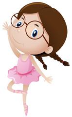 Girl in ballet outfit dancing