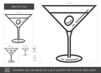 Martini line icon.
