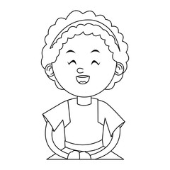 Girl cartoon icon. Kid childhood little and people theme. Isolated design. Vector illustration