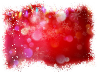Snowflake with Red Christmas background. EPS 10