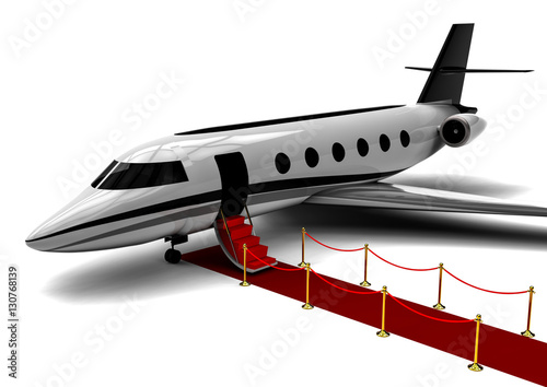 QuotRed Carpet Private Jet  3D Render Image Representing An Red Carpet Wit