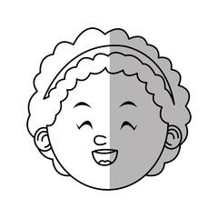 Girl cartoon icon. Kid childhood little and people theme. Isolated design. Vector illustration