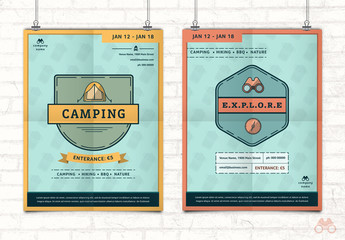 2 Outdoor/Wilderness Event Flyer Layouts