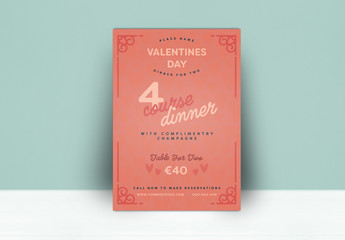 Simple Valentine's Day Dinner Flyer Layout