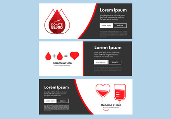 3 Blood Drive Event Flyer Layouts