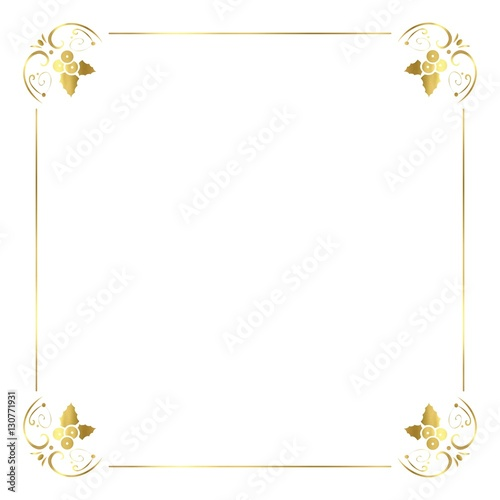 vector gold christmas border stock image and royalty free vector