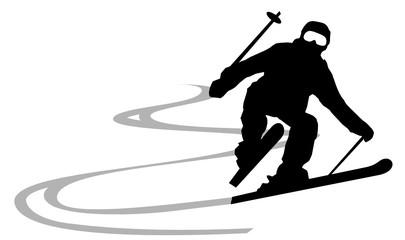 Skifahrer Winter Sport