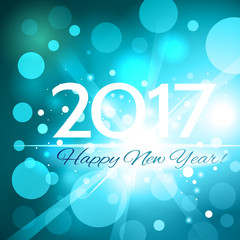 Beautiful  Happy New Year 2017 background