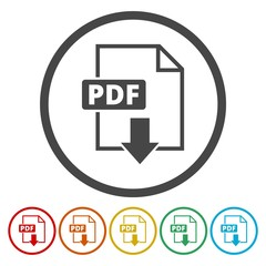 Pdf icons set