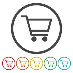 Vector shopping cart icons set