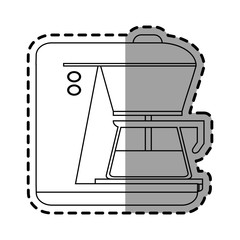 Coffee machine icon. Drink breakfast beverage and restaurant theme. Isolated design. Vector illustration