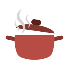 cooking pot open hot food kitchen vector illustration eps 10