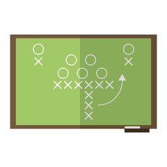 sport tactics chalkboard american football vector illustration eps 10