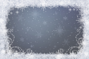 Snowflakes - winter background