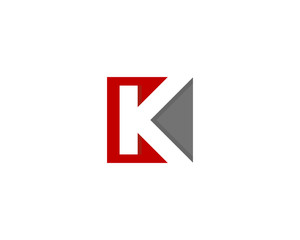 Letter K Square Logo Design Element