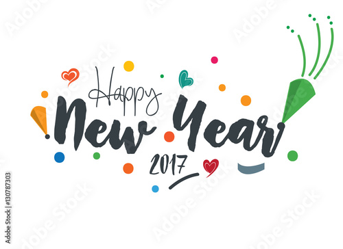 happy new year 2017 greeting card design template
