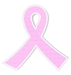 Ribbon breast cancer awareness pink design