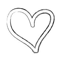 heart love drawing icon vector illustration design