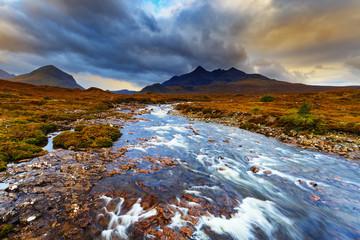 Sligachan Glen, Marsco mountain, Skye, Inner Hebrides in Highland