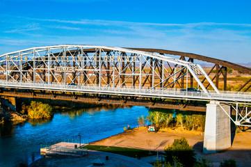 Colorado River Bridge Going from Arizona to California
