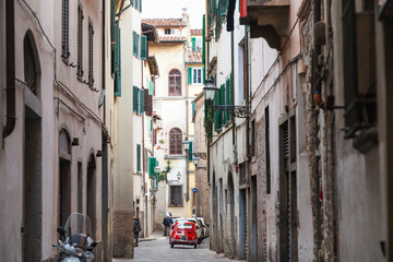 street in historic district of Florence