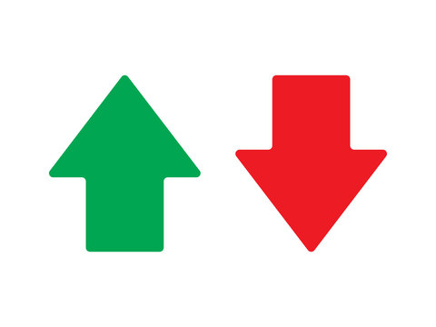 Up and down arrow vector isolated