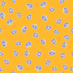 Forget-me-not flowers. Vector seamless texture