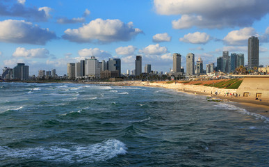Panoramic view of tel Aviv from Jaffa