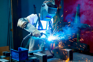 welder in factory
