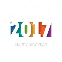 Happy new year 2017 vector background. Cover of business diary f