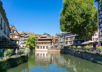 STRASBOURG, FRANCE - August 23, 2016 : Street view of Traditiona