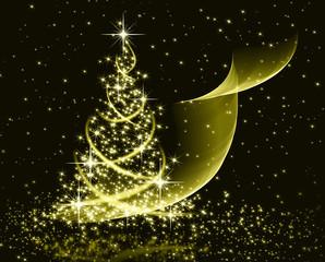Christmas gold tree