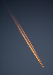 jetplane in sunset